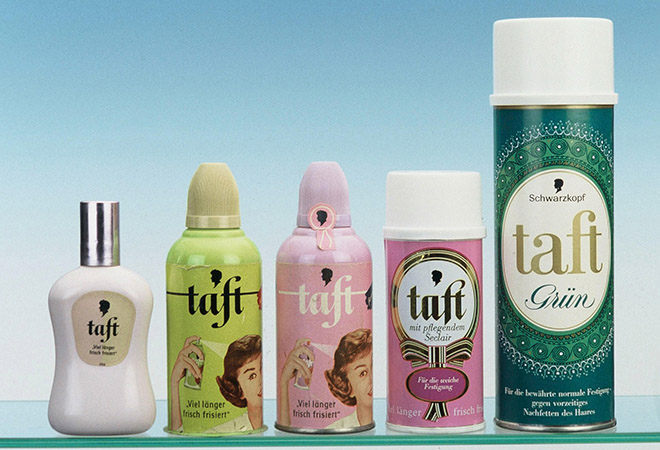 First Taft hairspray by Schwarzkopf.